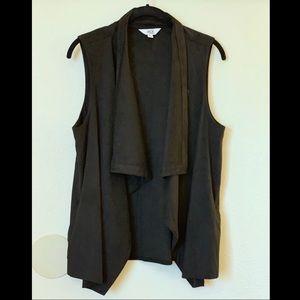 Jack by BB Dakota Soft Front Drape/Wrap Vest NWOT